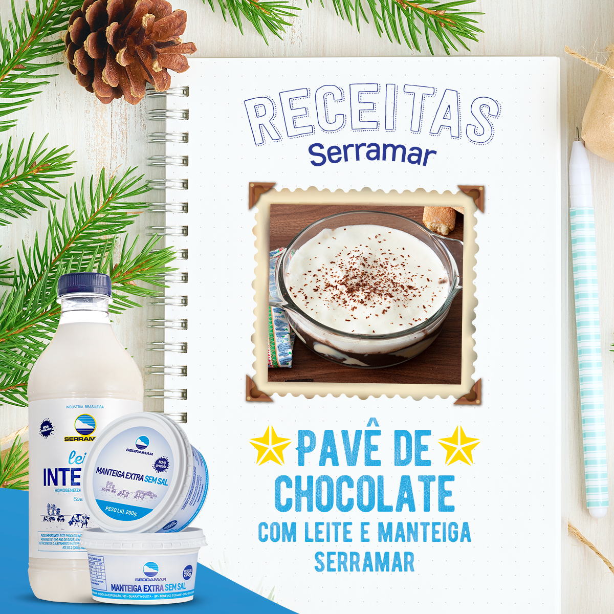 PAVÊ DE CHOCOLATE COM LEITE SERRAMAR
