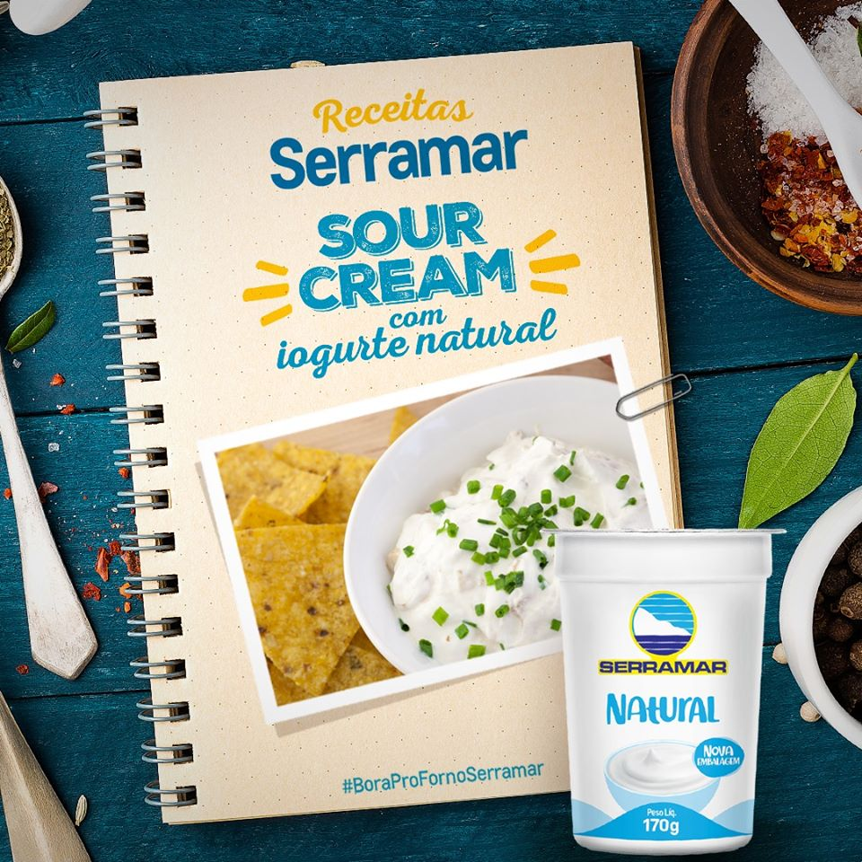 SOUR CREAM COM IOGURTE NATURAL